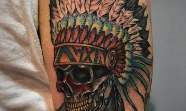 Corelli-Ligera-ink-tattoo-milano-tatuaggi-milano-teschio-indiano tatuaggi indiani