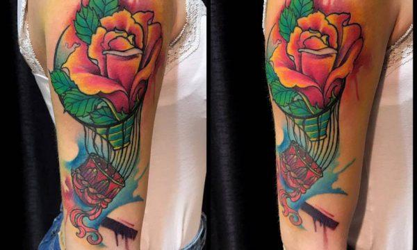 Corelli-Ligera-ink-tattoo-milano-tatuaggi-milano-mongolfiera tatuaggi watercolor tattoo watercolor tatuaggi effetto acquerello