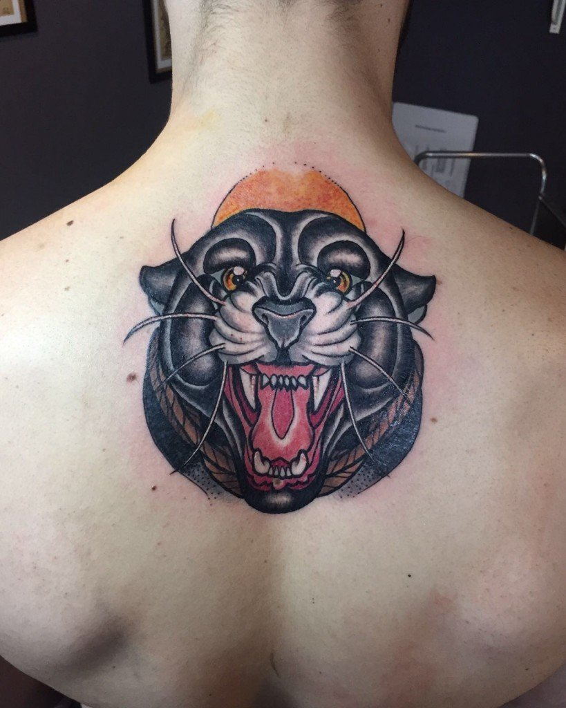 Ligera Ink panther tattoo stefano bonura New traditional tattoo tatuaggio pantera tatuaggi belli