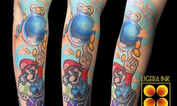 Ligera Ink Tattoo Milano tatuaggi milano tatuaggi cartoni animati milano tatuaggi cartoon tattoo cartoon tatuaggio super mario bros