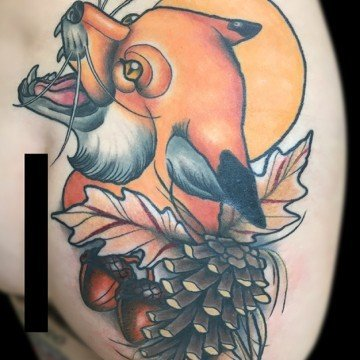 Ligera ink tattoo milano stefano bonura new traditional tattoo neo traditional tattoo tatuaggi new traditional studio di tatuaggi milano miglior tatuatore milano migliori tatuatori milano tattoo shop milano tatuaggio volpe tattoo volpe