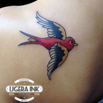 Phil Black Tattoo rondini Ligera Ink Studio Tattoo Milano tattoo milano tatuaggio rondini tatuaggio rondine