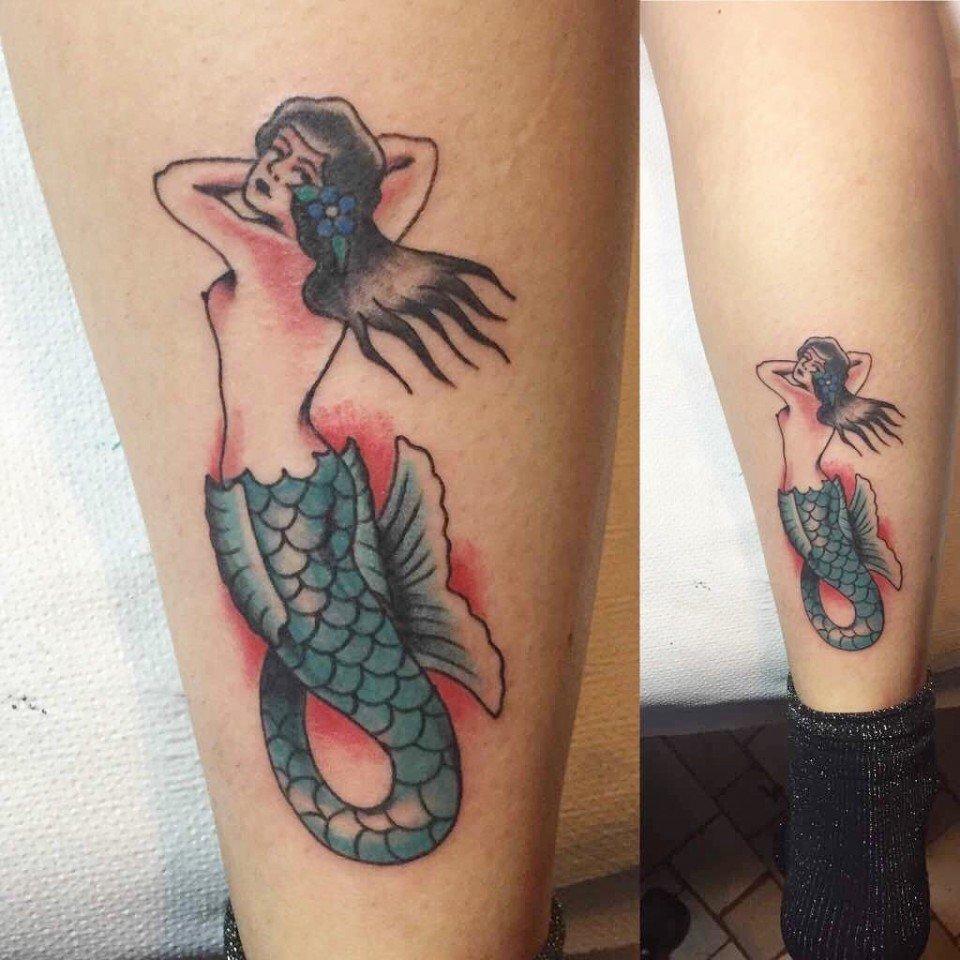 Ligera Ink Sirena Tatuaggio Sirena Tattoo Old school tattoo tattoo old school tatuaggio traditional