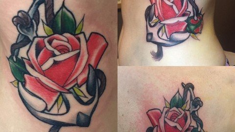 Ligera-Ink-Tatuaggio-ancora-con-rosa-tattoo-ancora-con-rosa-new-traditional-tattoo