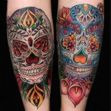 Ligera Ink Teschio Messicano Significato Sugar skull giorno dei morti milano tatuaggi