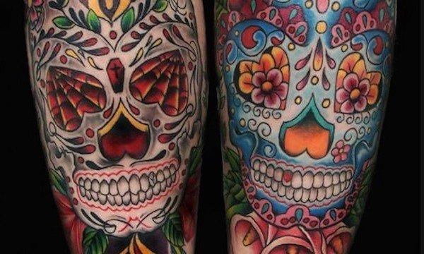 Ligera-Ink-Teschio-Messicano-Significato-Sugar-skull-giorno-dei morti-milano-tatuaggi