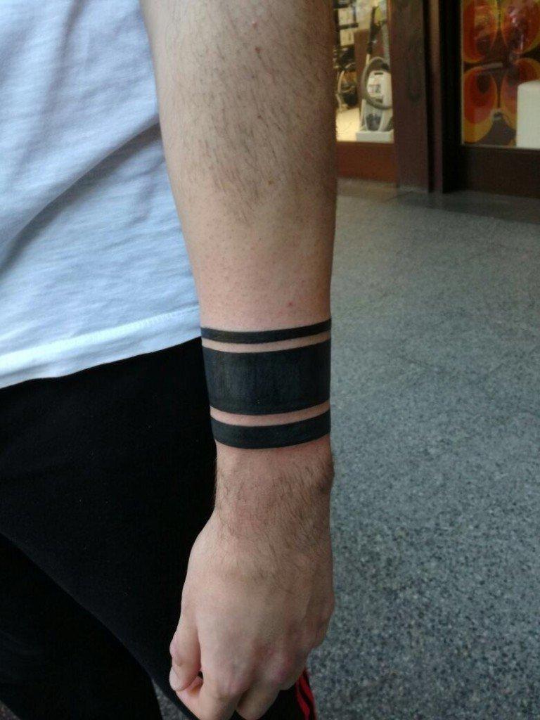 Favoloso Tatuaggio Bracciale Nero Uomo LX13 » Regardsdefemmes RI79