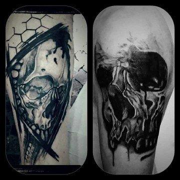Ligera Ink Tatuaggio teschio tattoo teschio tatuaggi milano tattoo milano tattoo studio milano studio di tatuaggi milano tatuatori milano