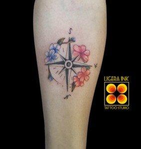 Ligera Ink tattoo milano tatuaggio bussola tattoo bussola tatuatori a milano tattoo a milano