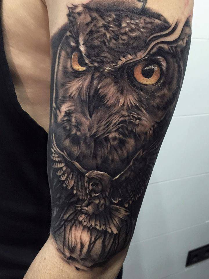 Favoloso Tatuaggio Gufo:Significato e Immagini - Ligera Ink Tattoo Studio  GS05