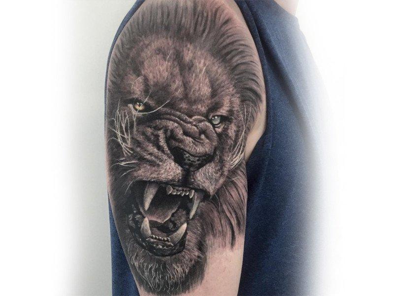 Estremamente Tatuaggio Leone: SIgnificato e Immagini - Ligera Ink Tattoo Studio  IA46