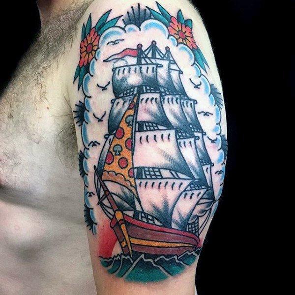Tatuaggio veliero tattoo veliero milano