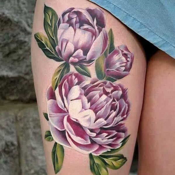 tatuaggio peonia tattoo peonie