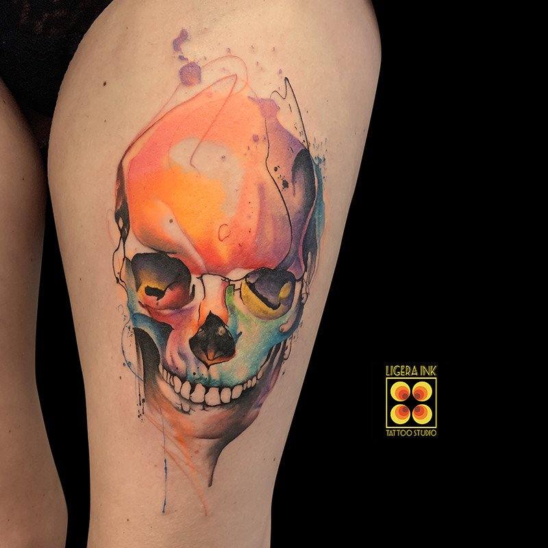 Ligera-ink-tattoo-milano-tatuaggi-milano-migliori-tatuatori-milano-tatuaggi-watercolor-milano-tattoo-watercolor-milano-tatuaggio-teschio-watercolor