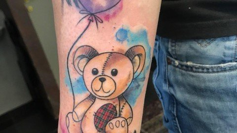 Ligera-Ink-tattoo-milano-tatuaggi-milano-migliori-tatuatori-milano-tatuaggio-watercolor-tatuaggio-acquerello-tattoo-watercolor-orsetto-tatuaggio-famiglia