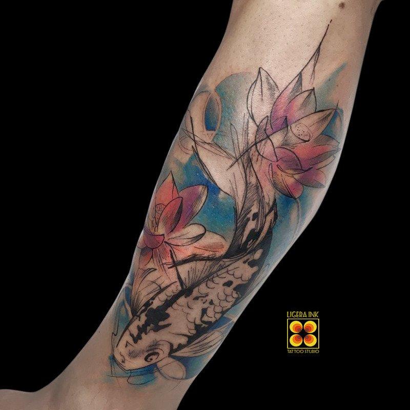 Ligera-ink-tattoo-milano-tatuaggi-milano-migliori-tatuatori-milano-tatuaggi-watercolor-milano-tattoo-carpa-watercolor