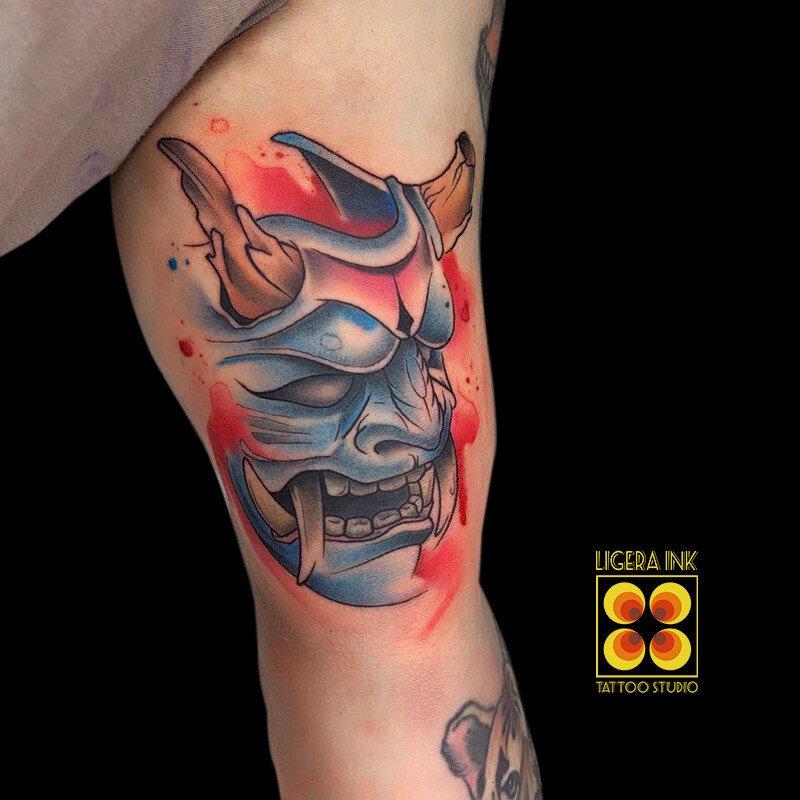 Ligera-ink-tattoo-milano-tatuaggi-milano-tatuatori-milano-tatuaggi-watercolor-milano-tattoo-watercolor-milano-demone-giapponese