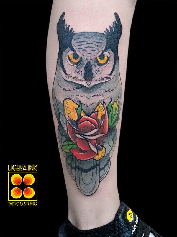 Ligera-ink-tattoo-milano-tatuaggi-milano-migliori-tatuatori-milano-tatuaggi-new-traditional-milano-tattoo-new-traditional-milano-tatuaggio-gufo