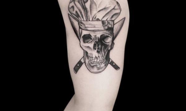 Ligera-ink-tattoo-milano-tatuaggi-milano-migliori-tatuatori-milano-tattoo-blackwork-milano-tatuaggi-blackwork-milano-tatuaggio-poseidone-blackwork-milano-tatuaggio-ritratto-teschio-cuoco-blackwork