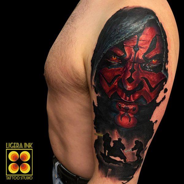 Ligera-ink-tattoo-milano-tatuaggi-milano-migliori-tatuatori-milano-tatuaggio-Tatuaggi-realistici-milano-tattoo-realistici-colori-milano-tatuaggio-tatuaggio-star-war-tattoo-darth-maul