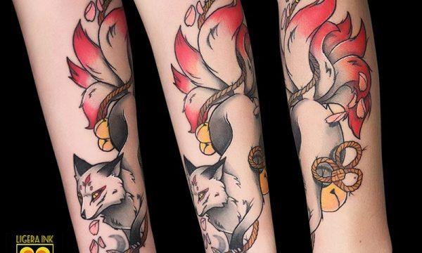 Ligera-Ink-Tattoo-Milano-Tatuaggi-milano-tatuatori-milano-tatuaggio-tradizionale-milano-tatuaggio-newtraditional-milano-tattoo-new-traditional-milano-tatuaggio-kistune-volpe-a-nove-code